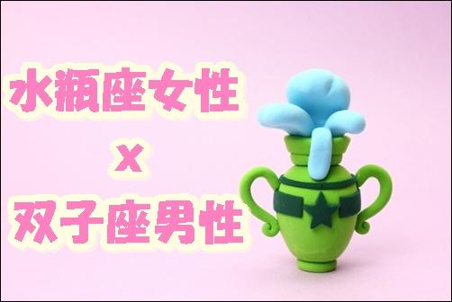 水瓶座女性x双子座男性の画像
